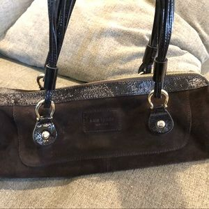 Kate Spade Oak Park Chocolate Suede and Leather